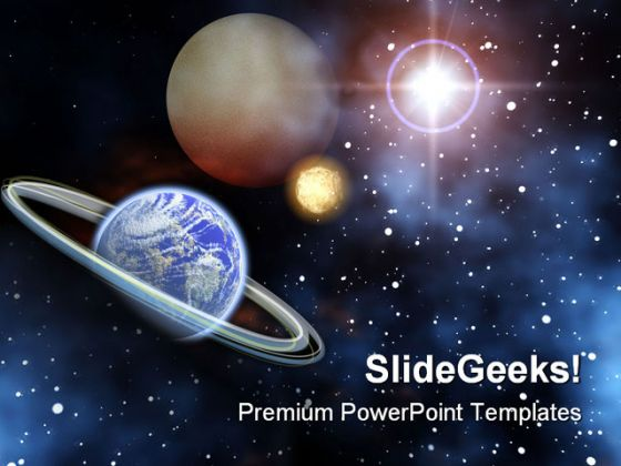 Space Science PowerPoint Template 0610 - science powerpoint template