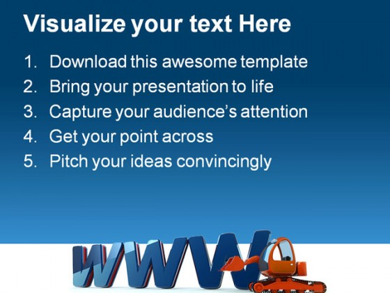 Www Web Building Construction PowerPoint Templates And