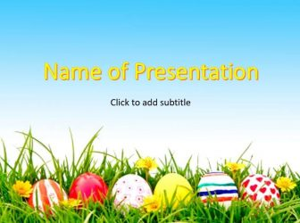 Happy Easter - PowerPoint Template about Easter