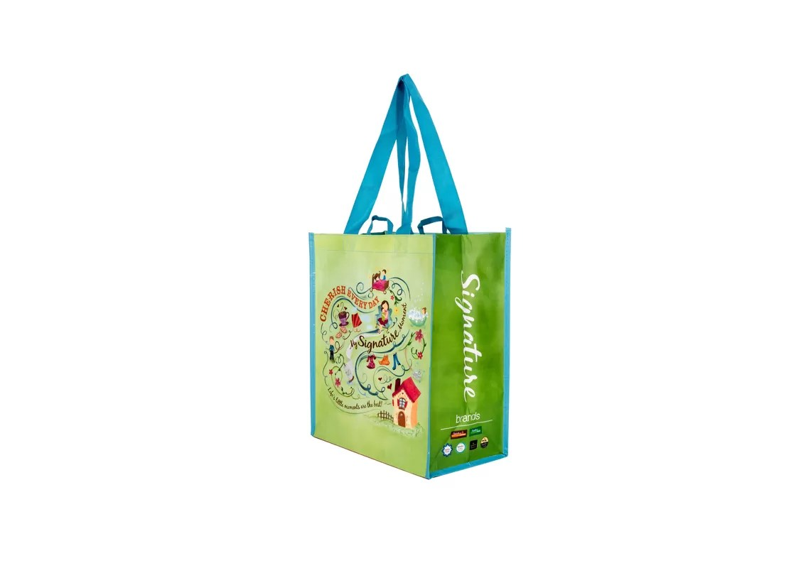 Bag Shops Cold Seal Non Woven Shopping Bags For Supermarket Retail Shops