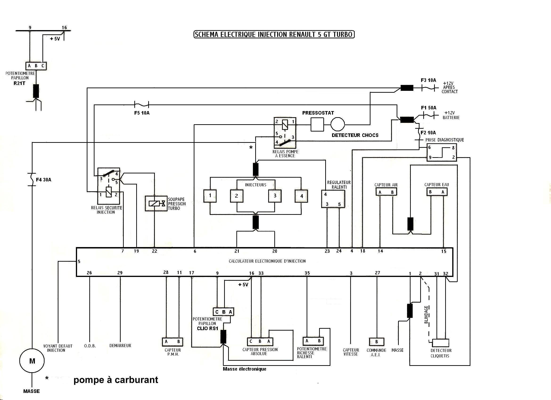 alpine schema cablage moteur