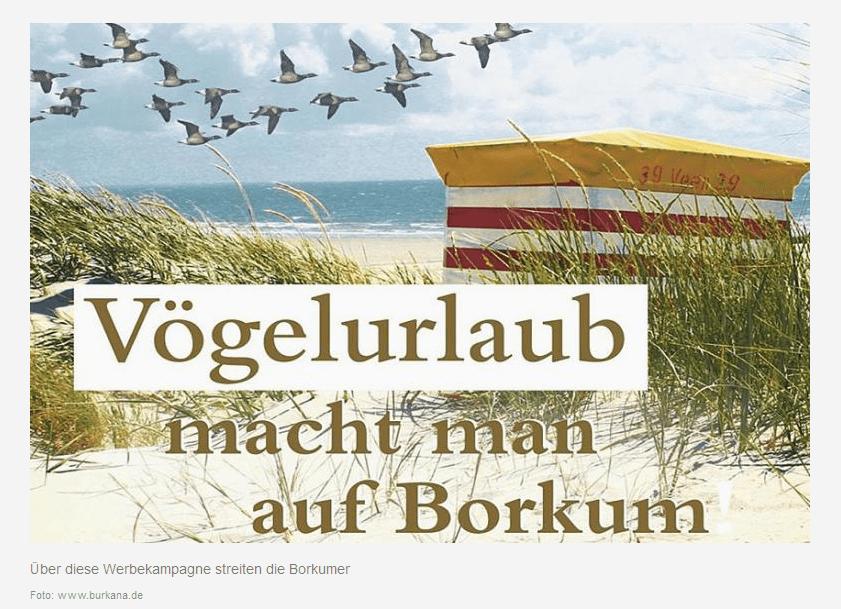 Vögelurlaub macht man auf Borkum - Kampagne - pr-perlen.de