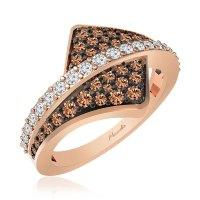 AGAPE Casual Ring, 14 Kt Rose Gold, White diamonds ...