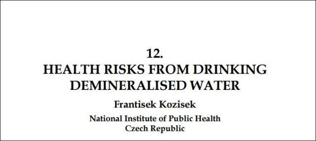 Demineralized Water Impact