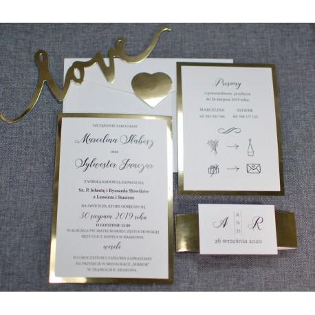 zaproszenia ślubne mirror - PRACOWNIA MANUFAKTURA