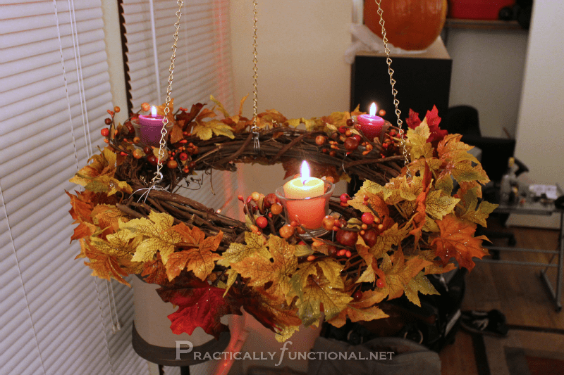 Fall Flowers Desk Background Wallpaper Simple Hanging Fall Wreath Chandelier Tutorial