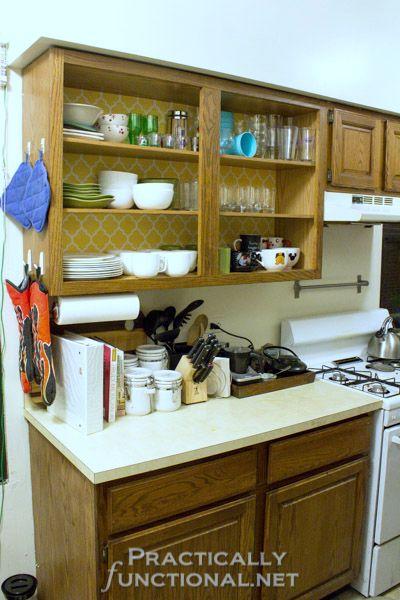 rental friendly kitchen update wallpaper cabinets add rental friendly kitchen update wallpaper cabinets