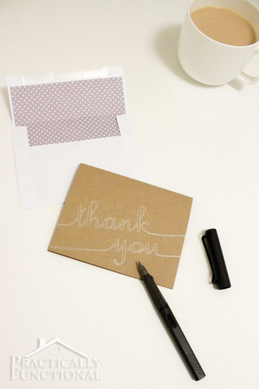 DIY Thank You Cards with Silhouette Sketch Pens - make your own thank you cards