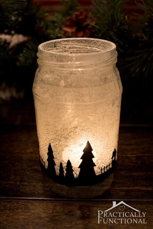 Medium Of Mason Jar Silhouette