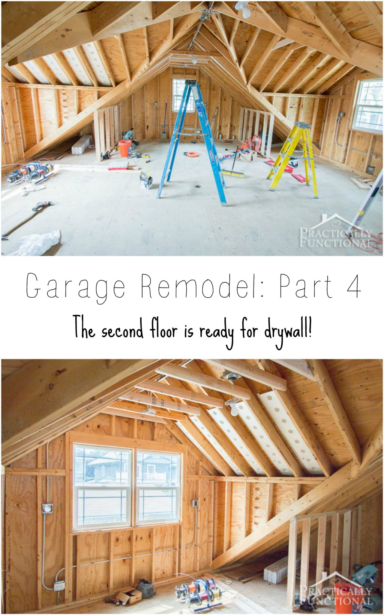 Garage Remodel Progress Upper Floor Framing And