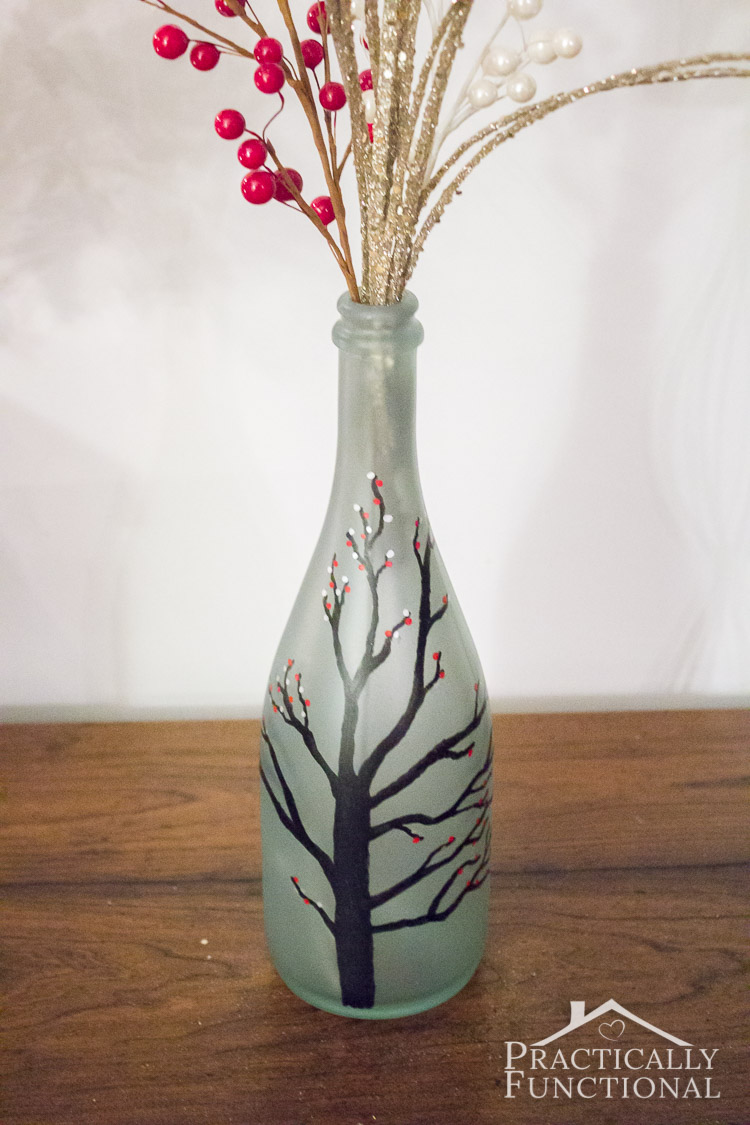 Lifestyle Blog Beauty Diy Wintry Frosted Glass Vase