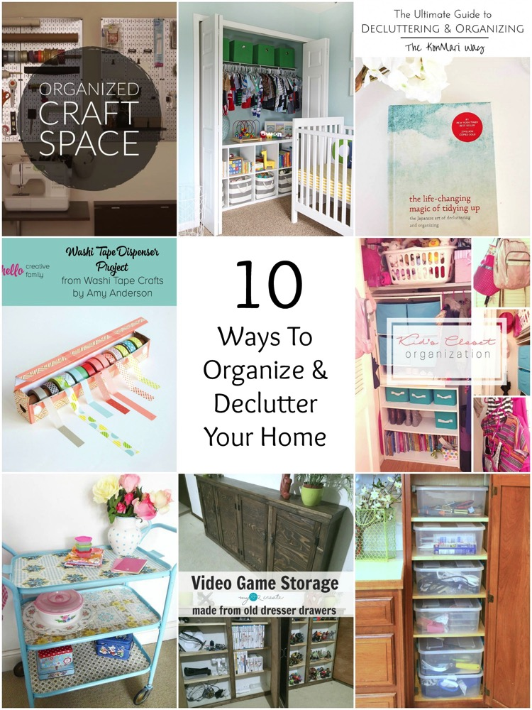 So Creative! - 10 Ways To Organize  Declutter Your Home