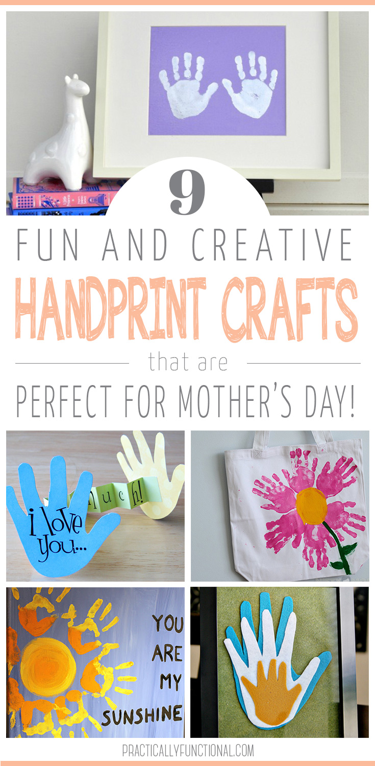 Awesome Diy Mother's Day Gifts 9 Handprint Art Ideas For Mother S Day