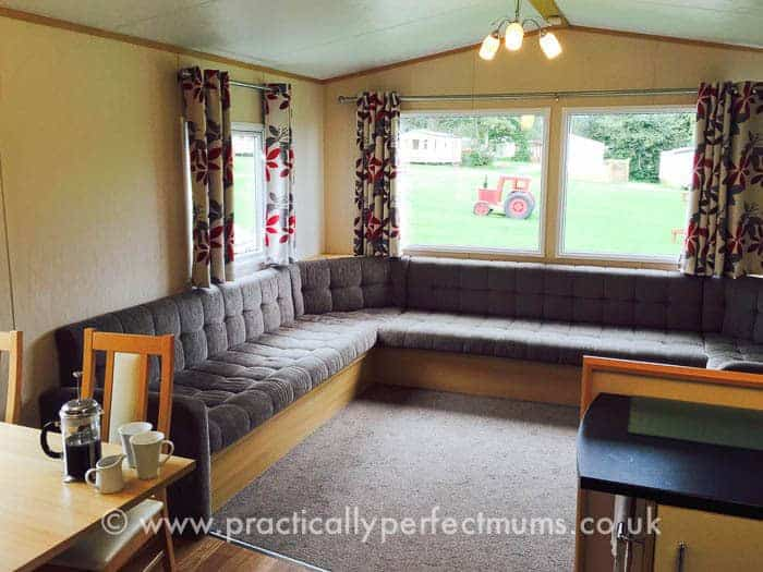 trevella Park review - caravan living area