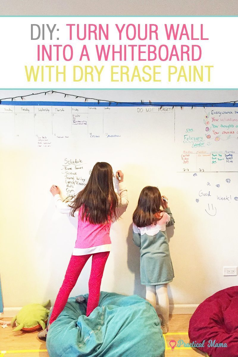 Turn A Wall Into A Whiteboard Diy Dry Erase Whiteboard Wall