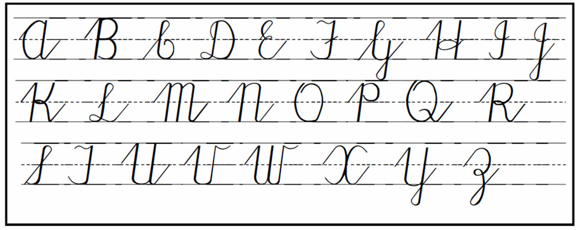Letter In Cursive Cursive Handwriting Step By Step For Beginners Practical Pages