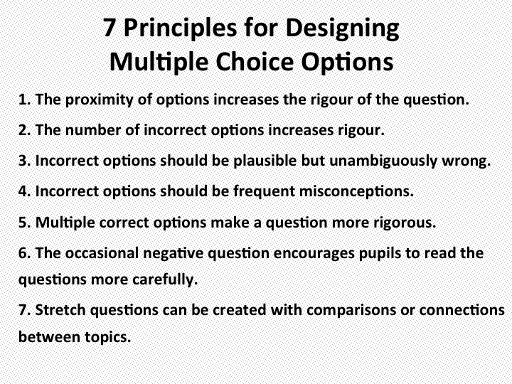 How to design multiple-choice questions Joe Kirby\u0027s blog