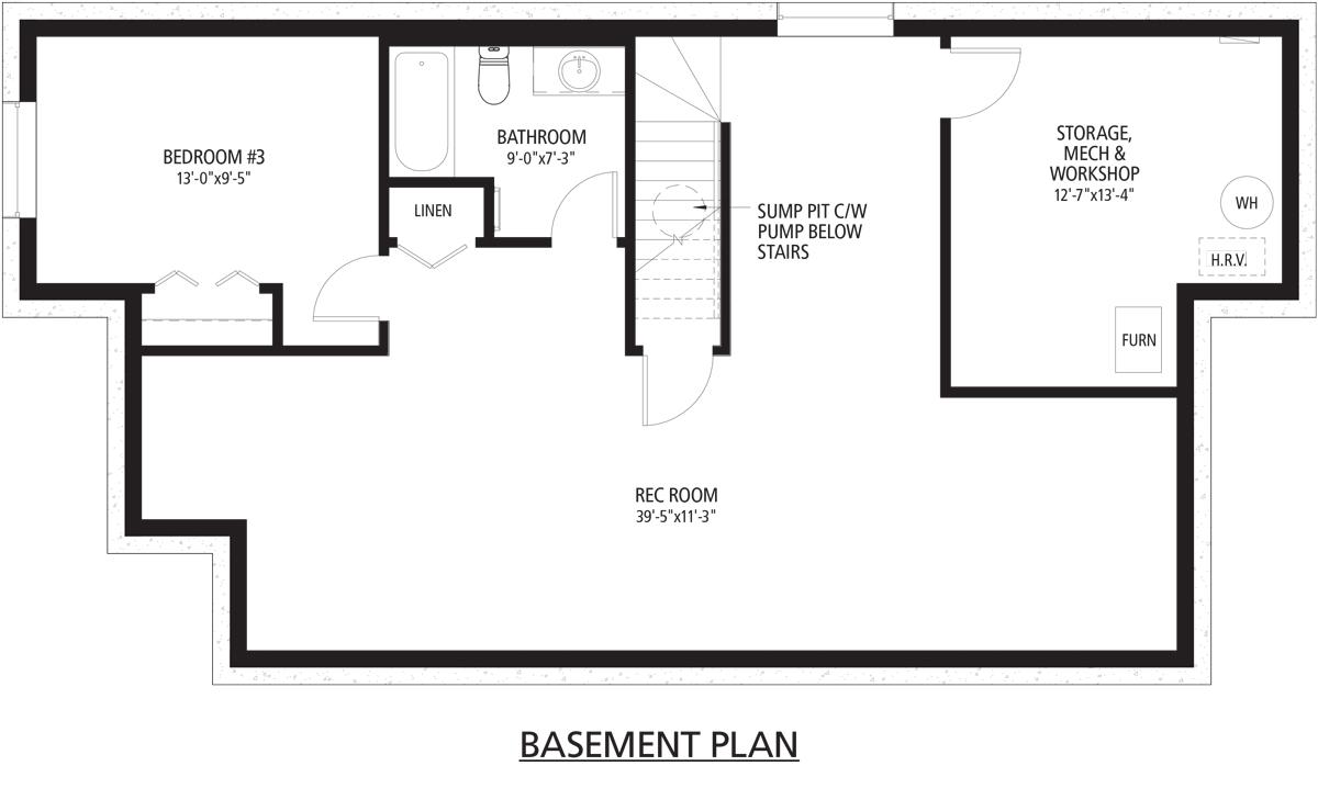 Beaudry Basement floorplan