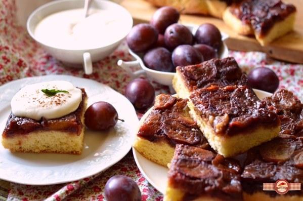 Prajitura cu prune caramelizate