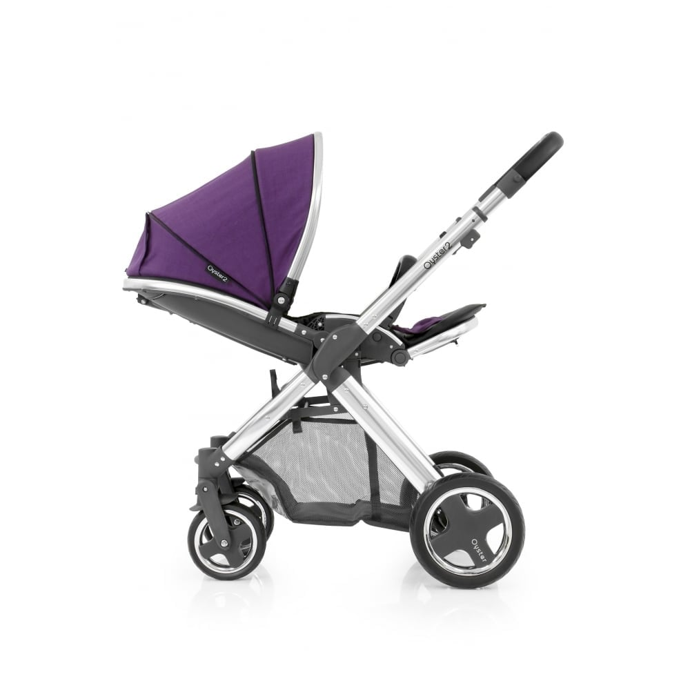 Oyster Pram Purple Babystyle Oyster 2 3in1 Mirror Chassis Black Wild Purple