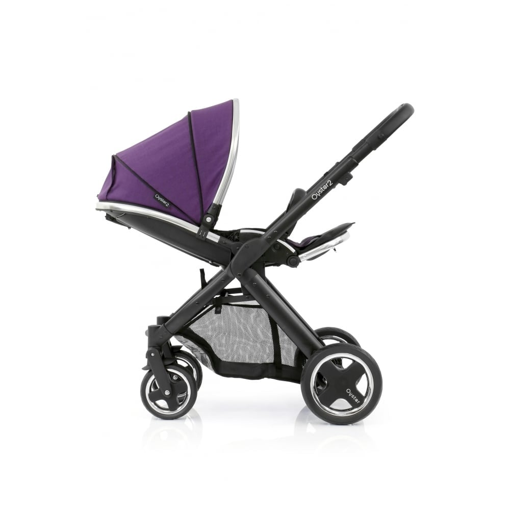 Oyster Pram Purple Babystyle Oyster 2 Pushchair Black Chassis Wild Purple
