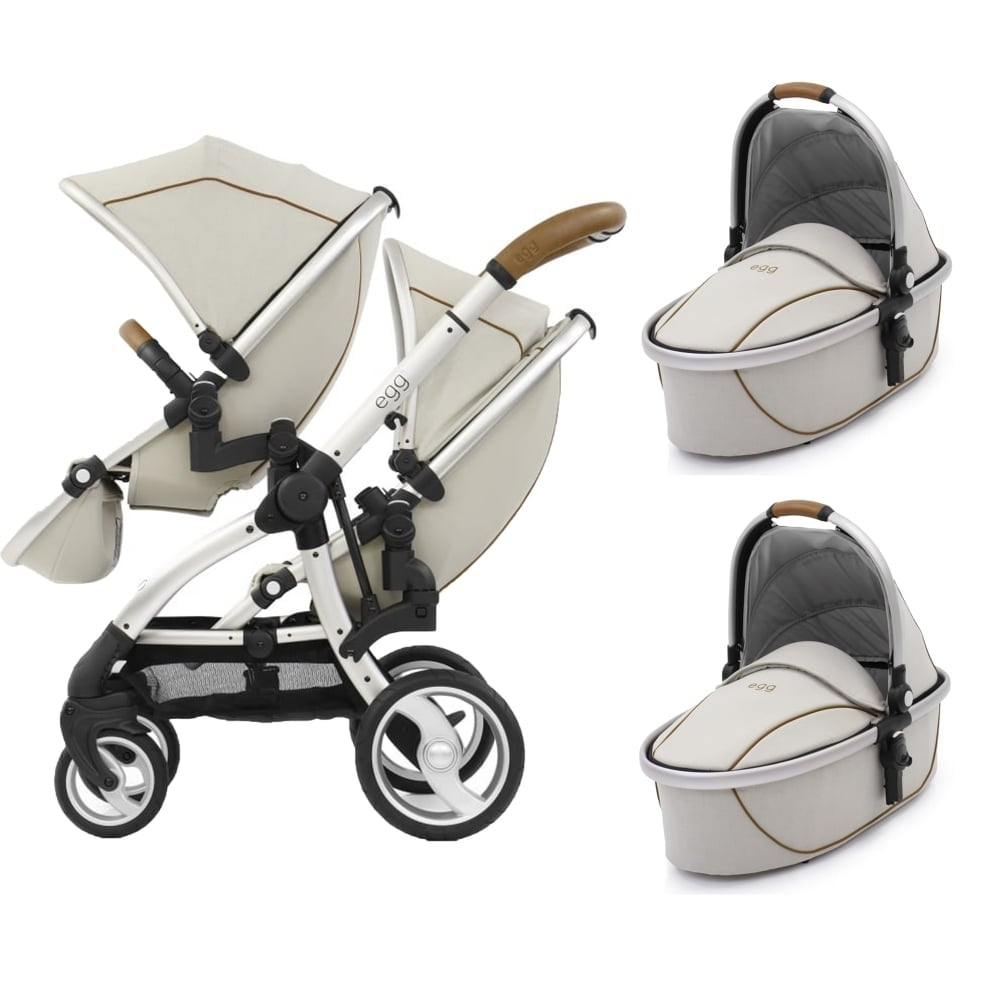 Egg Stroller For Twins Egg Tandem 2 Carrycots Prosecco