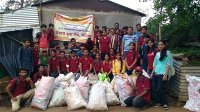 Trekking and cleaning drive Team, Nashik. Date 09 jul 2017