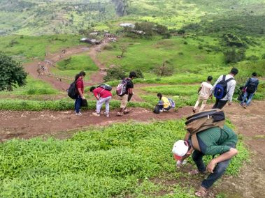 Trekking and cleaning drive Nashik Date 09 jul 2017