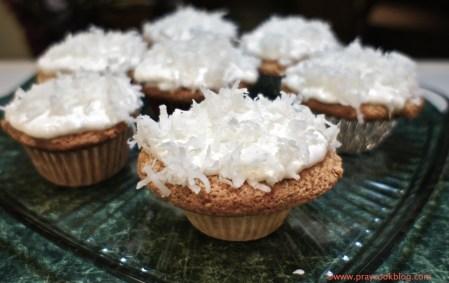 Sour Cream Coconut Cupcakes