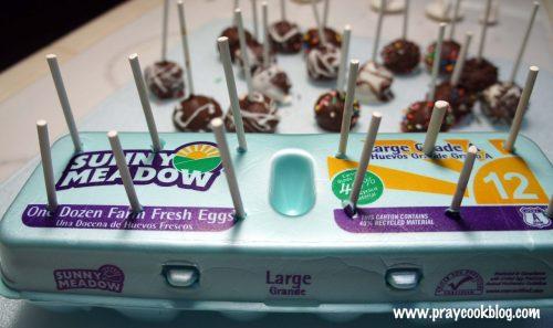 cake pop egg carton