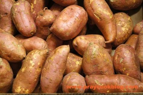 box of sweet potatoes