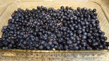 blueberries layered