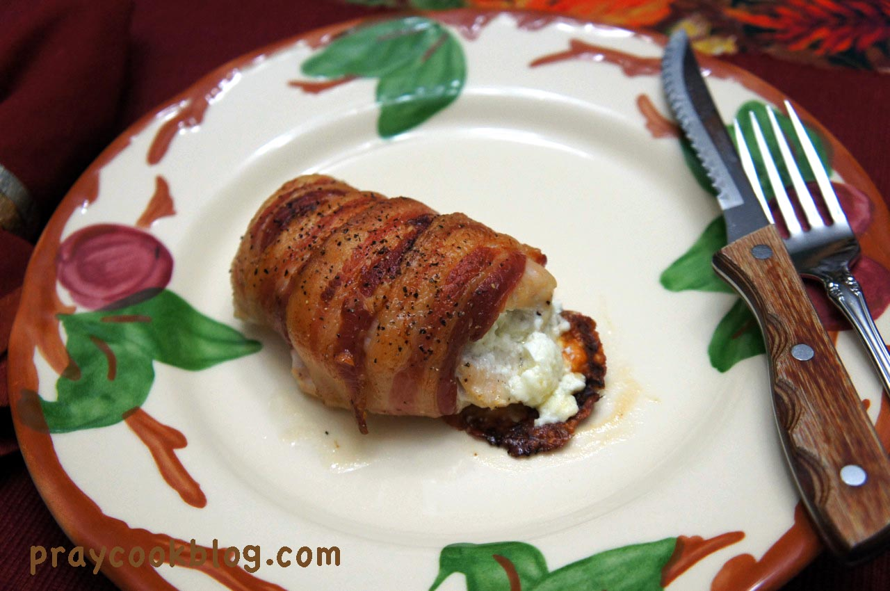 Bacon Wrapped Cream Cheese Stuffed Chicken Breast | My Daily Bread ...