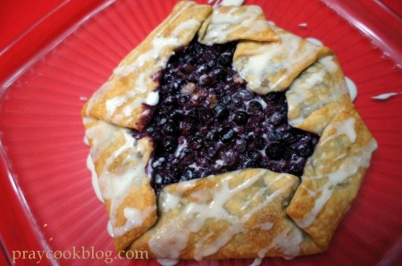 apple berry galette facedown