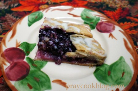 apple berry galette upclose