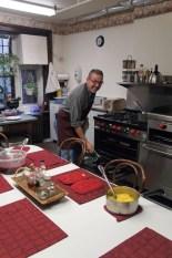 Vernon knows his way around a kitchen!
