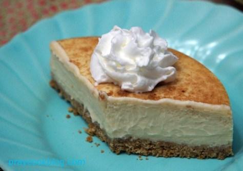 tiramisu cheesecake  upclose