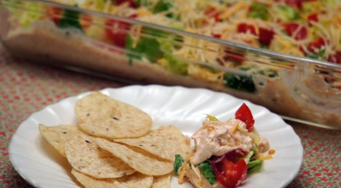 Taco Dip plated