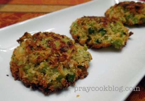 broccoli patty upclose