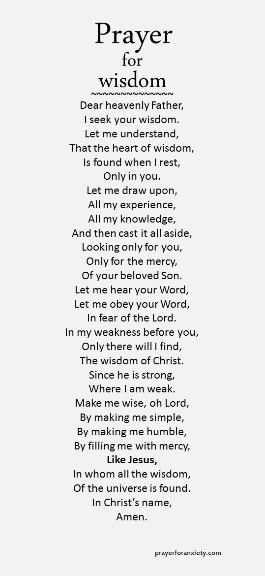 prayer-for-wisdomjpg (539×1170) Psalms Pinterest Wisdom - thank you notes sample