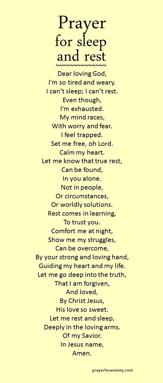 prayer-for-sleep-and-restjpg (539×1263) Christ Pinterest - repair quote
