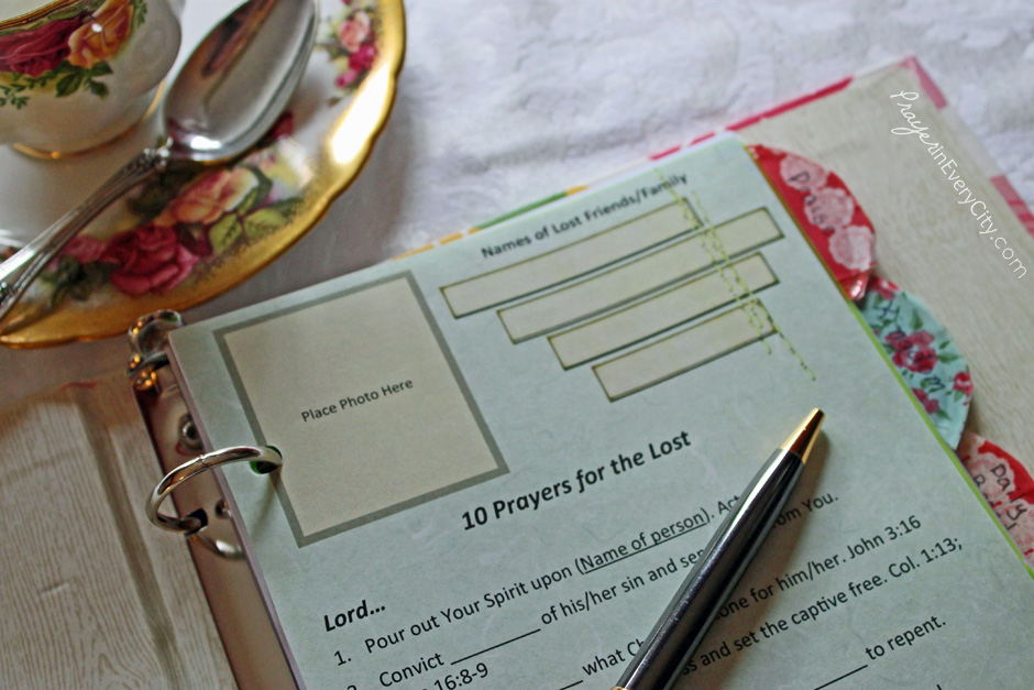 Printable Journal Pages \u2013 Prayer In Every City