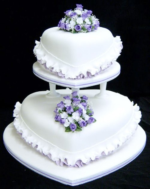 Medium Of Purple Wedding Cakes