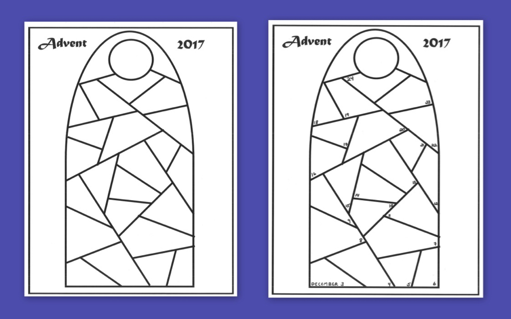 2017 Advent Calendar Templates Praying in Color
