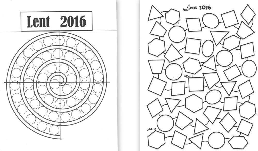 Lenten Calendar Templates 2016 Praying in Color - calendar templates