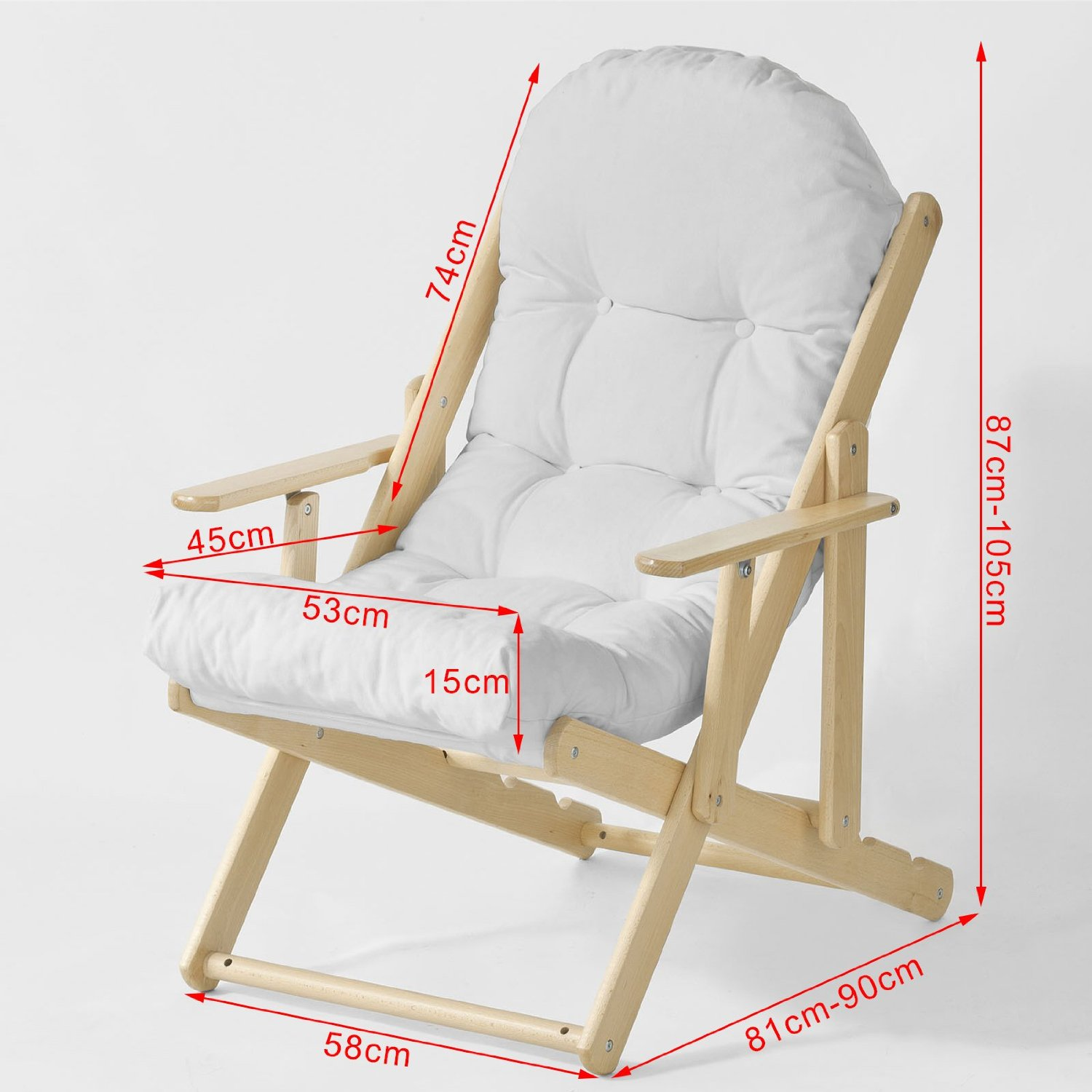 Lounge Chair Measurements Folding Lounge Chair Beach Chair Prd Furntiure