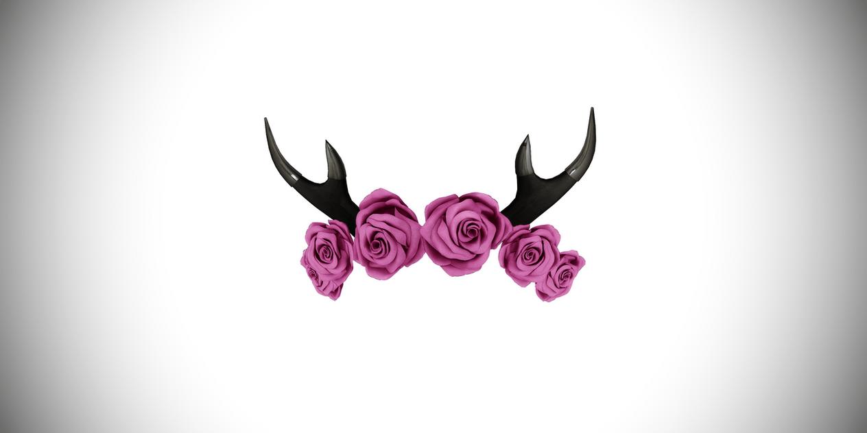 Black And White Rose Wallpaper Deerest Deer Antler Flower Crown By Amiamy111 On Deviantart