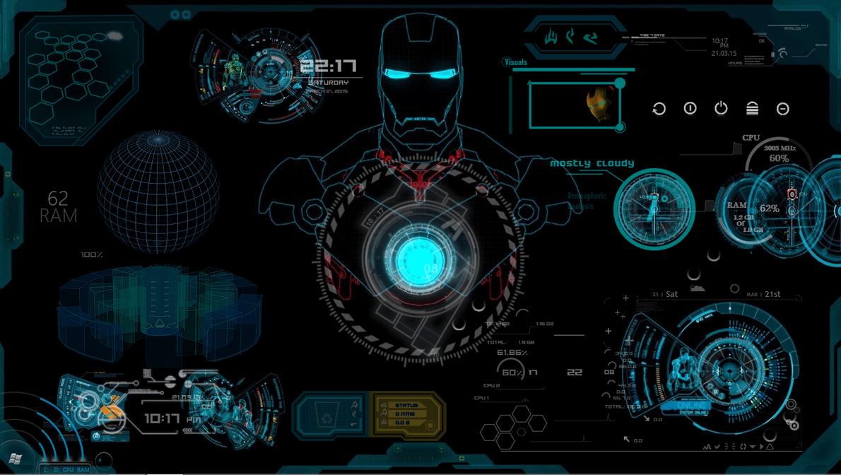 Android 3d Live Wallpaper Tutorial Iron Man Jarvis Rainmeter Skin By Abhishekmaurya21 On
