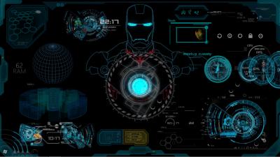 Iron Man JARVIS RainMeter Skin by AbhishekMaurya21 on DeviantArt