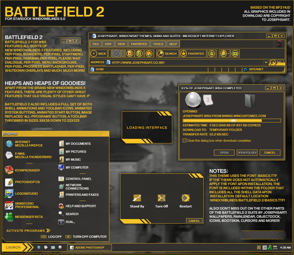 Stardock Animated Wallpaper Battlefield 2 Windowblinds By Josephs On Deviantart